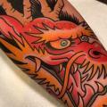 tatuaje Brazo Dragón por Dave Wah