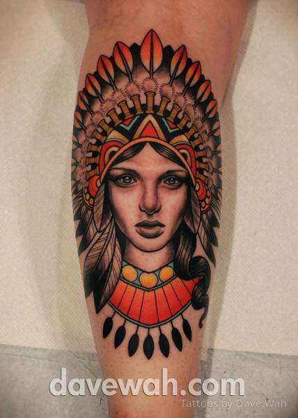 Tatuaggio Braccio Indiani di Dave Wah
