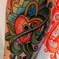 tatuaje Brazo Bloquear Hoja por Dave Wah