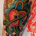Arm Schloss Blatt tattoo von Dave Wah