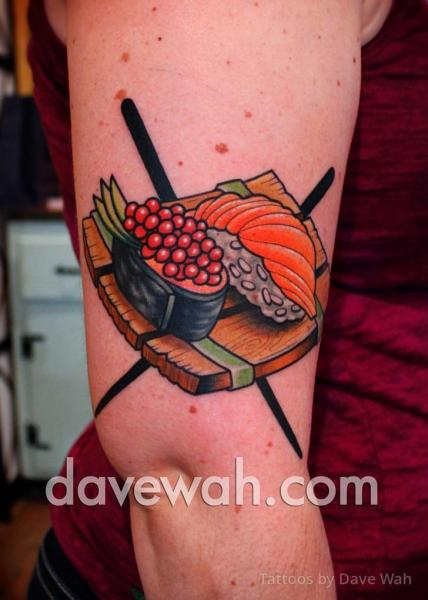 Arm Sushi Tattoo by Dave Wah