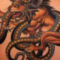 Snake Back Lion tattoo by Dave Wah