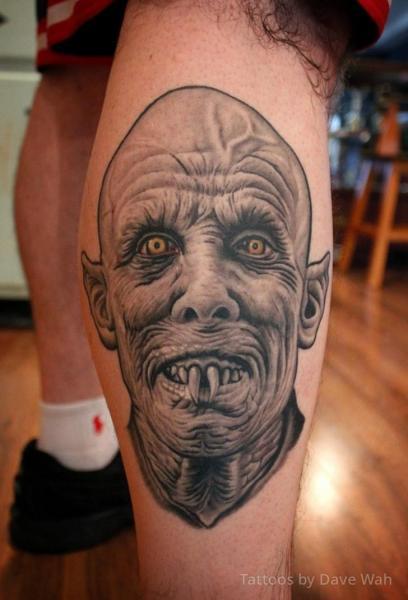 Fantasy Calf Vampire Tattoo by Dave Wah
