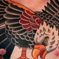 Shoulder Chest Old School Eagle tattoo by Dave Wah