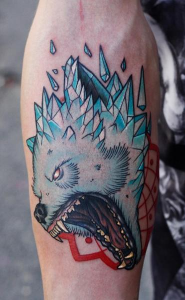 Arm Bear Tattoo by Stefan Semt