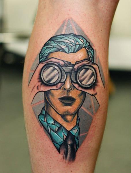 Arm Männer Fernglas Tattoo von Stefan Semt