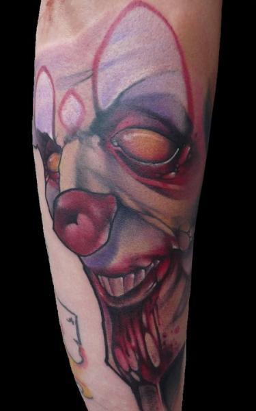 Arm Clown Tattoo von Signs and Wonders