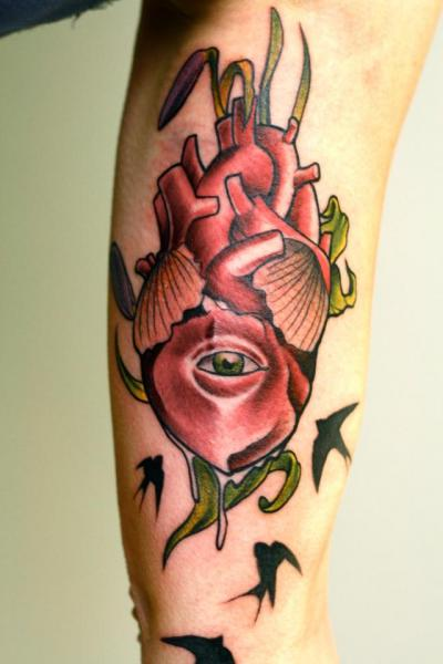 Arm Heart Tattoo by Signs and Wonders