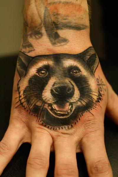Hand Bear Tattoo by Signs and Wonders