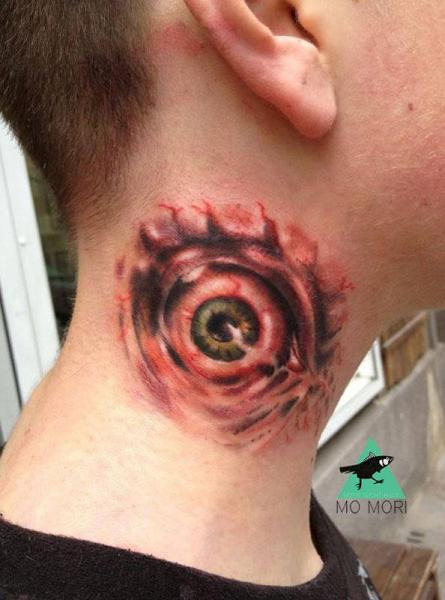 Eye Neck Tattoo by Signs and Wonders