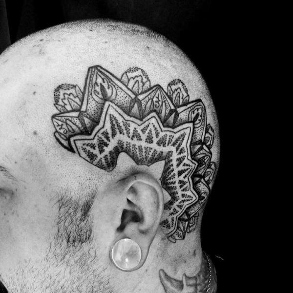 Head Dotwork Tattoo by Silence of Art Tattoo Studio