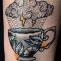 Leg Cloud Cup tattoo by Silence of Art Tattoo Studio