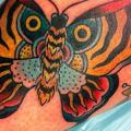 Arm Old School Butterfly tattoo by Ten Ten Tattoo