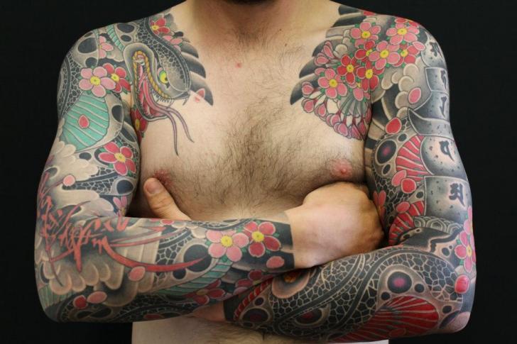 Arm Snake Japanese Tattoo by Ten Ten Tattoo