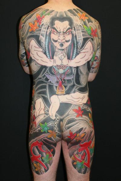 Japanese Back Butt Tattoo by Ten Ten Tattoo