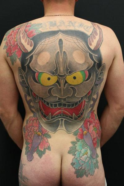 Japanese Back Demon Tattoo by Ten Ten Tattoo