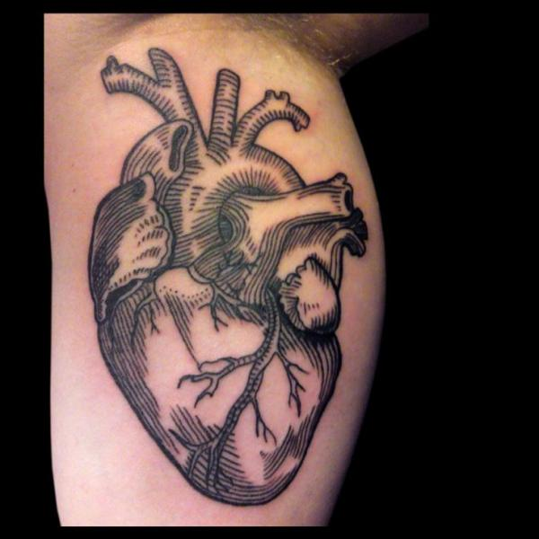 Arm Heart Draw Tattoo by Gallon Tattoo