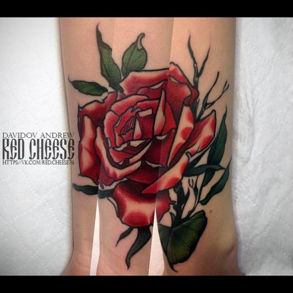 Flower Hand Tattoo by Davidov Andrew