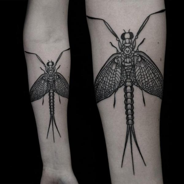 Arm Dotwork Insect Tattoo by Vienna Electric Tattoo