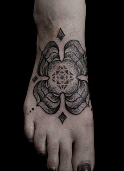 Foot Dotwork Tattoo by Vienna Electric Tattoo