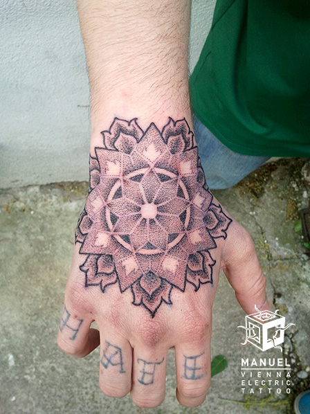 Hand Dotwork Tattoo by Vienna Electric Tattoo