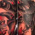 tatuaje Brazo Cuervo por Nik The Rookie