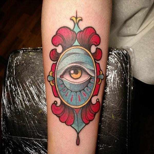 Arm Eye Tattoo by Nik The Rookie