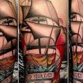 Arm Auge Galeone tattoo von Nik The Rookie