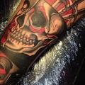 Arm Skull tattoo by Nik The Rookie