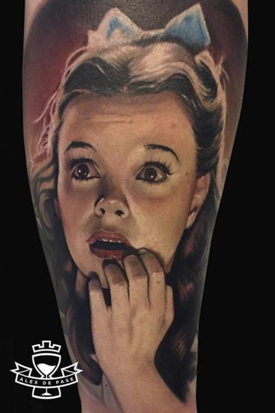 Arm Portrait Realistic Tattoo by Alex de Pase