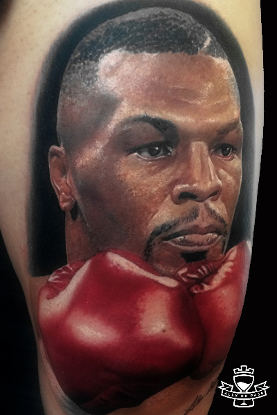 904f5560544d0 Realistic Mike Tyson Tattoo by Alex de Pase