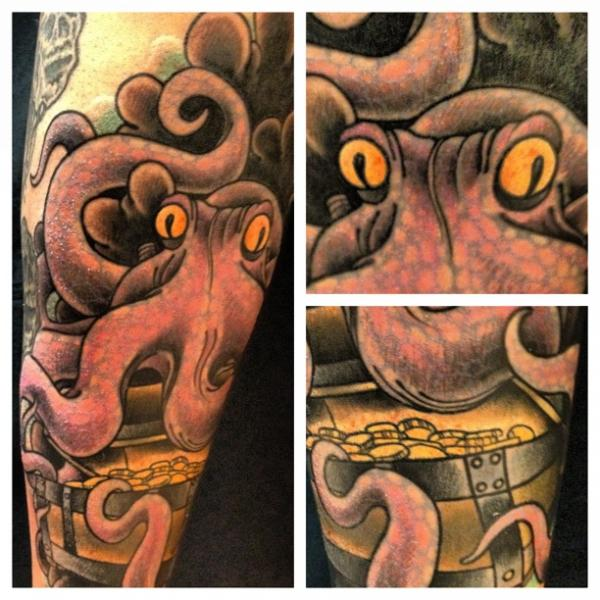 Arm Fantasy Octopus Tattoo by Malort