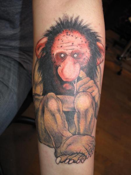 Arm Fantasie Troll Tattoo von Malort