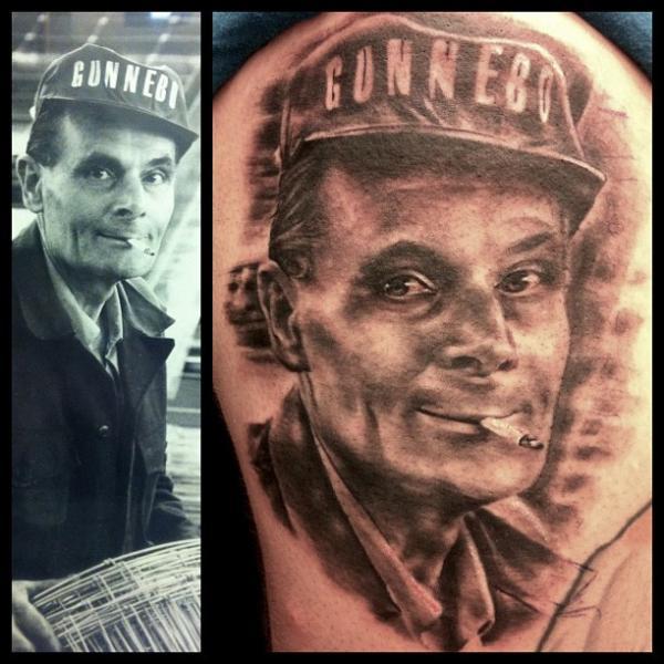 Portrait Realistic Tattoo by Malort