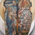 Shoulder Religious tattoo by Sacred Tattoo Studio