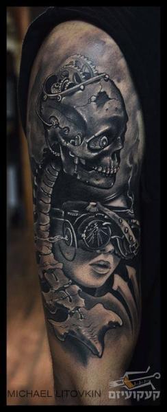 Arm Skeleton Tattoo von Michael Litovkin