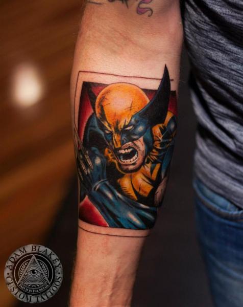 Arm Hero Comic Tattoo by Slawit Ink