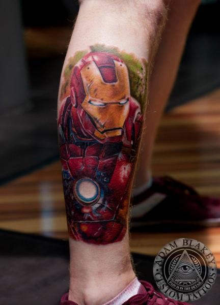 Waden Ironman Tattoo von Slawit Ink