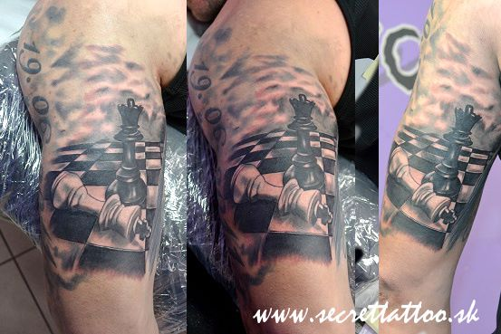 Arm Chess Tattoo by Secret Tattoo & Piercing