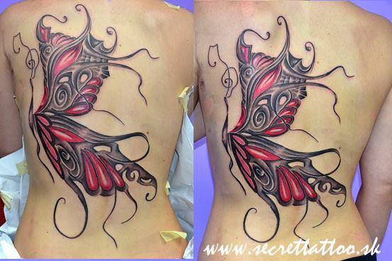 Fantasy Back Butterfly Tattoo by Secret Tattoo & Piercing
