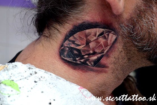 Neck Diamond Tattoo by Secret Tattoo & Piercing