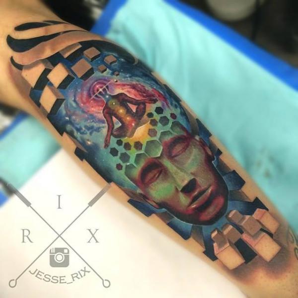 Arm Abstract Tattoo by Jesse Rix Tattoo Art