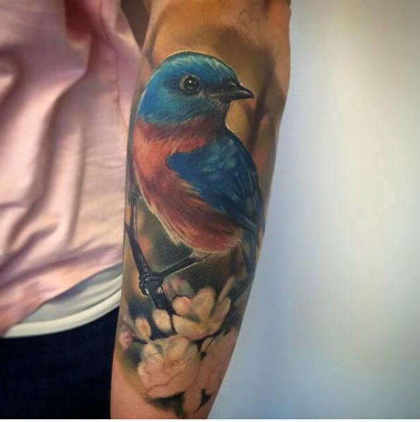 Arm Realistic Bird Tattoo by Jesse Rix Tattoo Art