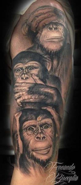 Arm Realistic Monkey Tattoo by Forever Tattoo