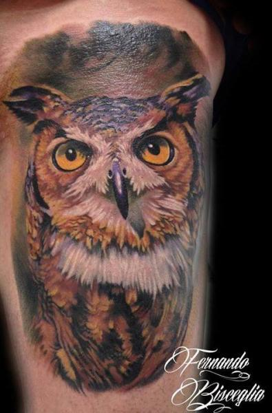 Arm Realistic Owl Tattoo by Forever Tattoo