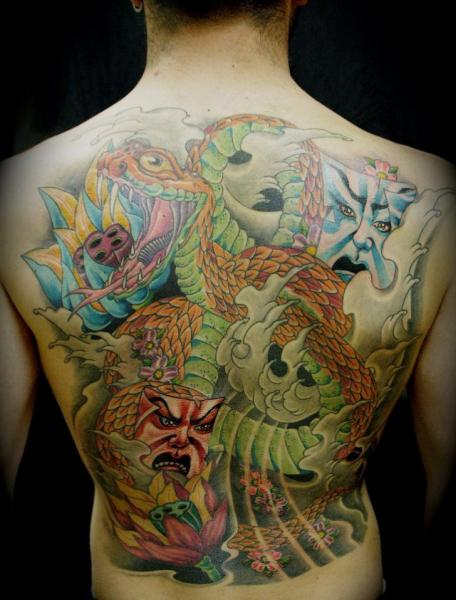Japanese Back Tattoo by Forever Tattoo