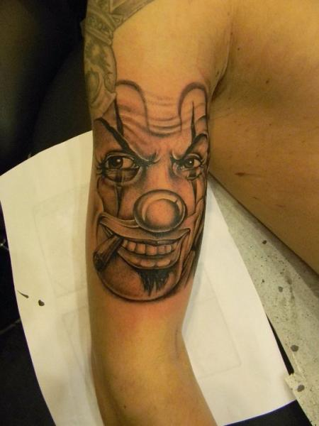 Arm Fantasy Clown Tattoo by 2nd Skin