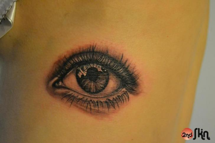 Realistic Eye Tattoo by 2nd Skin