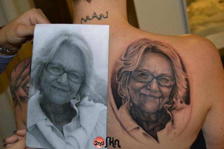 Shoulder Portrait Realistic Tattoo by 2nd Skin