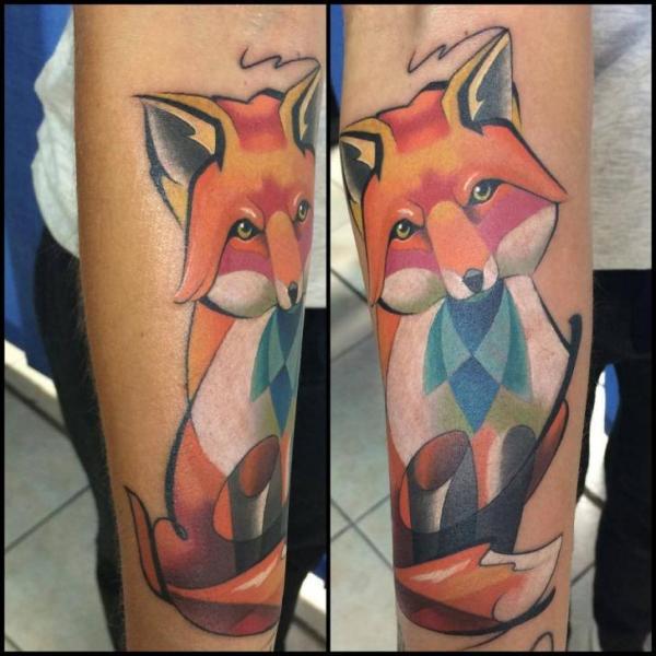 Arm Fox Tattoo by Mefisto Tattoo Studio